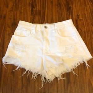 HOLLISTER high-rise jean shorts